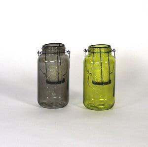 Green Mason Jar Lantern