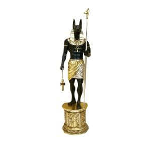 Guilding Anubis Standing On Plinth