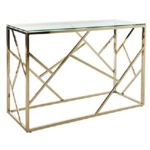 Gold Geometric Sofa Table