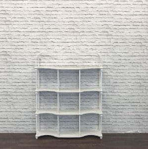 Wrought Iron Display Shelves