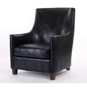 Signature Black Croc Club Chair