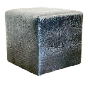 Signature Black Croc Cube