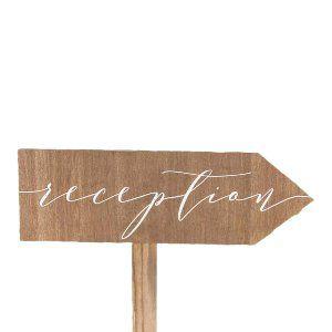 Reception Arrow Sign