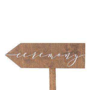 Ceremony Arrow Sign