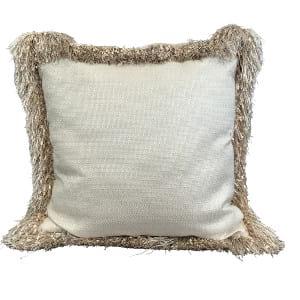 Blush Fringe Pillow
