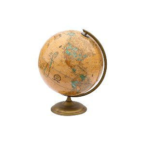 Tan Vintage Globe