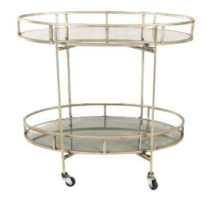 Silver and Mirror Bar Cart