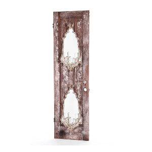 Antique Door with Sconces
