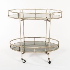 Silver and Mirror Bar Cart