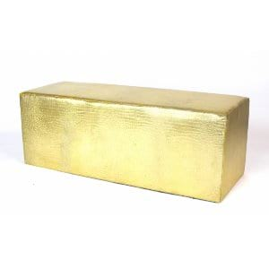 Gold Croc Whisper Bench