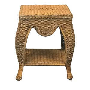 Wicker Square Side Table