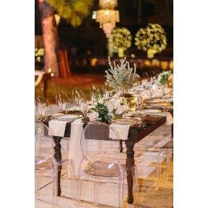 8' Dark Walnut Farm Table