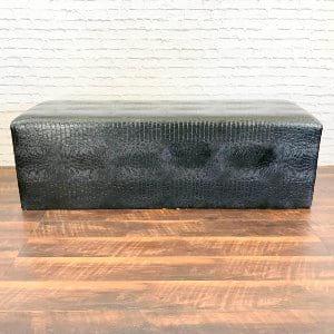 Signature Black Croc Whisper Bench