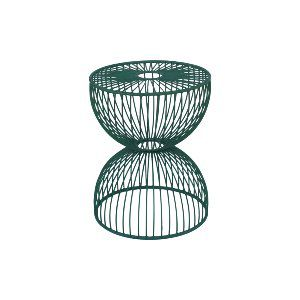 Teal Cage Accent Table