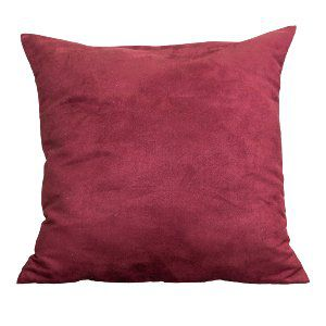 Burgundy Suede Accent Pillow