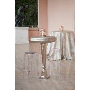 Silver High Top Table