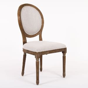 Dark Wood and Grey Louis Chair