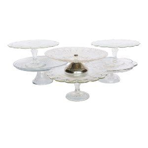 Asst'd Glass Cake Stands