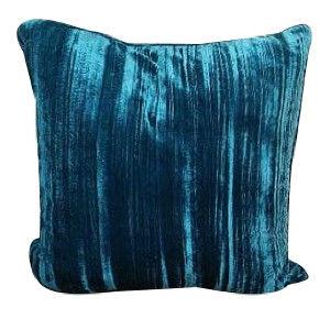 Blue Vertical Velvet