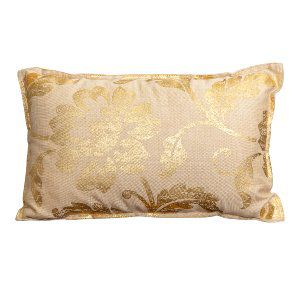 Gold Filligree Lumbar Pillow