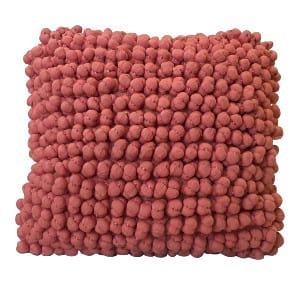 Coral Pom Pom Pillow