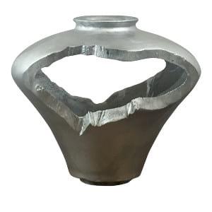 Silver Deco Vase