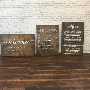 Wooden Sign with Custom Printing