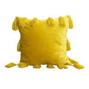 Chartreuse Tassle Velvet Pillow