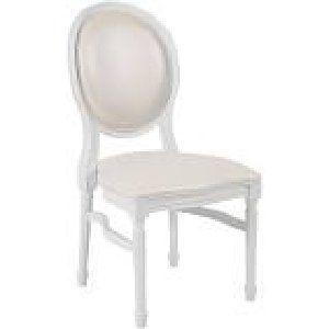 White Louis Chair