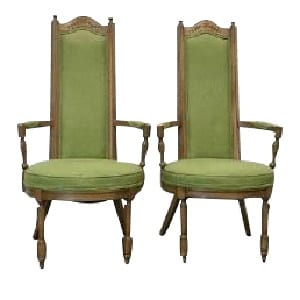 Green Henry High Back Chair