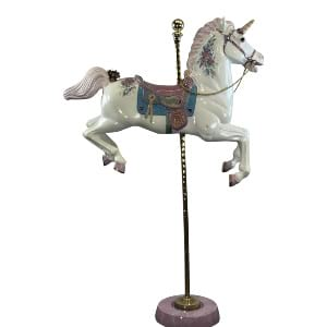 Hand Painted Carousel Unicorn