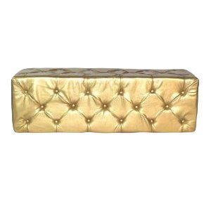 Gold Tufted Whisper Bench
