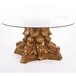 Gold Leaf Display Table