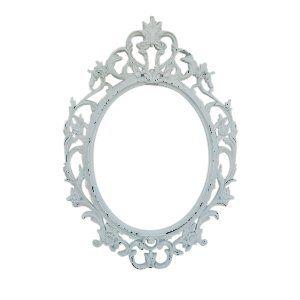 White Ornate Oval Frame