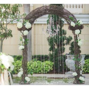 Wrought Iron Twig Arch