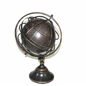 Atlas Antique Leather Globe