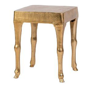 Hoove Gold Side Table