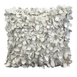 White Felt Flower Pillow
