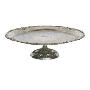 Tarnished Silver Cake Stands