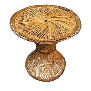 Wicker Round Side Table