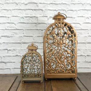 Small Gold Ornate Lanterns