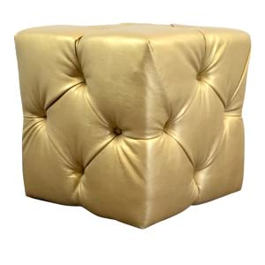 Gold Tufted Cube
