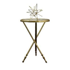 Gold Beaded Leg Side Table