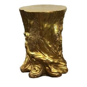 Stump Gold Leaf Side Table