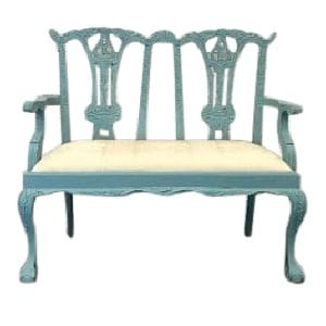 Riley Blue Settee