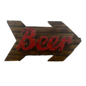 Galvanized Beer Sign