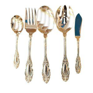 Gold Serving Pieces Set of 5