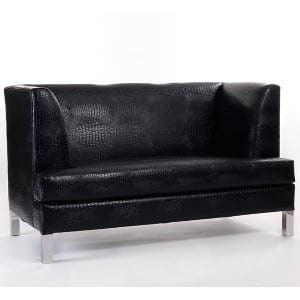 Signature Black Croc Sofa