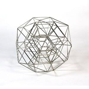 Web Wire Side Table Sculpture