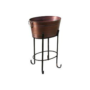 Black and Copper Bar Cart Stand